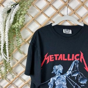 Metallica Band Graphic Festival Logo Tee